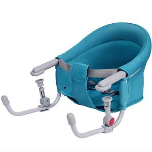 Costzon Hook On Chair, Clip on High Chair w:Tight Fixing Clip, Iron Pipe Frame, Machine-Washable Fabric, Storage Pocket