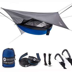 """Easthills Outdoors Jungle Explorer 118"""" x 79"""" Portable Double Camping Hammock"""
