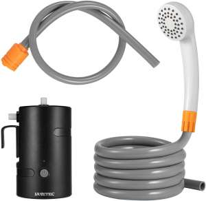 JAYETEC Portable Outdoor Shower Set,Camping Shower USB Rechargeable 4400mAh Battery Powered Shower Pump for Family Camp Hiking