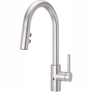 Pfister LG529ESAS Stellen Touch-Free Pull Down Kitchen Faucet with React Electronic Motion Sensor, Stainless Steel