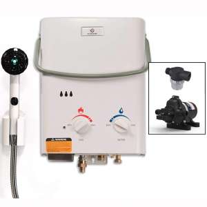 Eccotemp L5 Tankless Water Heater w: EccoFlo 12V Pump and Strainer