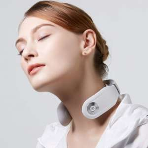 SKG Smart Neck Massager with Heating Function, Wireless 3D Travel Neck Massage Equipment with Remote