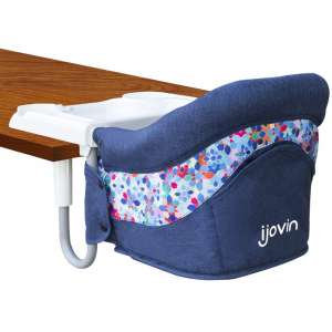 Hook On High Chair, Clip on High Chair with Dining Tray for Babies and Toddlers, Folding Flat Storage Feeding Seat with Convenient Carry Bag