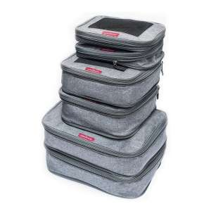 LeanTravel Set of 6 Compression Packing Cubes