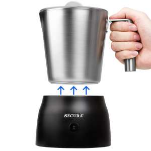 Secura 4-In-1 Electric Automatic Milk Frother 8.45 Oz