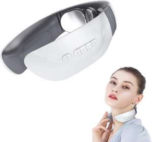 Wnvonin Heated Neck Massager with Pulse.Wireless Intelligent Portable Neckology Neck Massagers Suitable for Office,Car, Home, Travel.