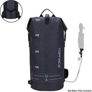 Topnaca Outdoor Seaside Multifunctional 20L Bucket Dry Bag, Lightweight Collapsable Sealed Tactical Waterproof Backpack