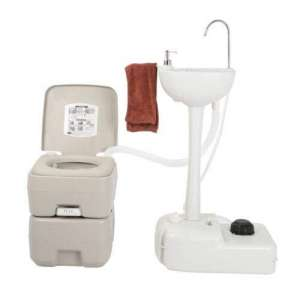 USAStock Upgraded Portable Sink and Toilet Combo