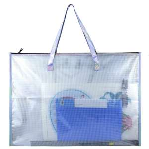 BUSOHA Large Clear Vinyl Bag with a Handle and Zipper