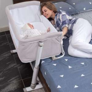 Baby Bassinet,RONBEI Bedside Sleeper,Baby Bed to Bed,Babies Crib Bed, Adjustable Portable Bed