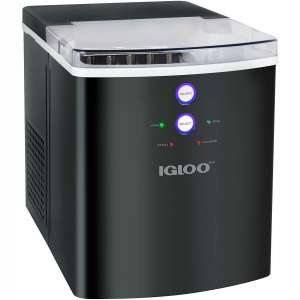 Igloo ICEB33BS Large-Capacity Automatic Portable Electric Countertop Ice Maker Machine, 33 Pounds in 24 Hours
