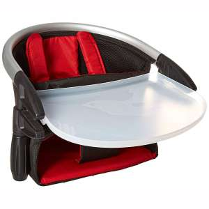 phil&teds Lobster Clip-On Highchair, Red – Award Winning Portable High Chair – Includes Carry Bag and Dishwasher Safe Tray
