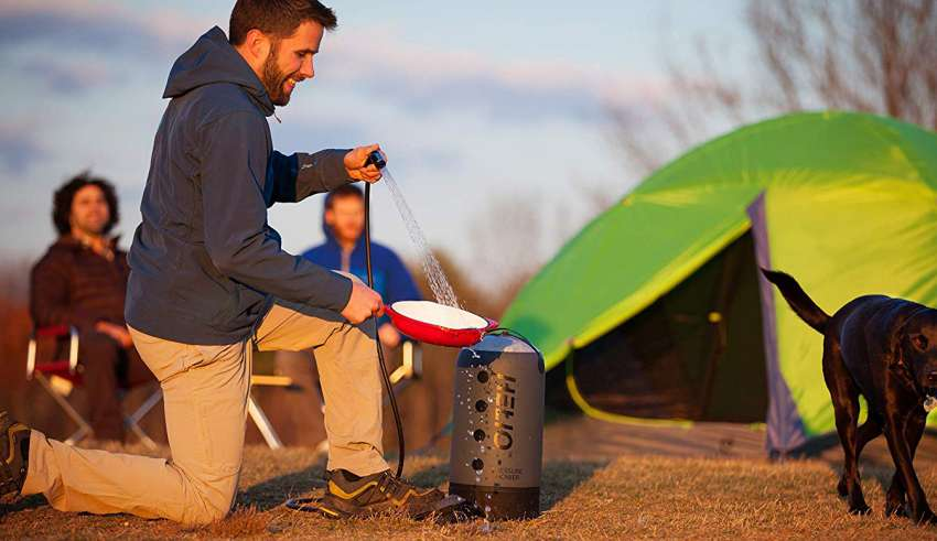 image feature Shower bags for camping
