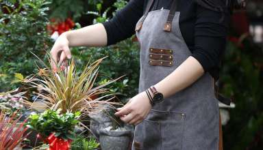 image feature leather aprons