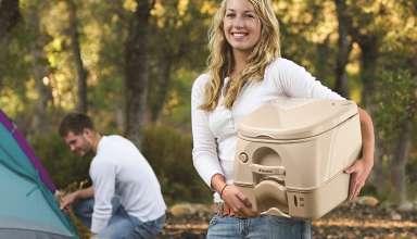 image feature portable toilets