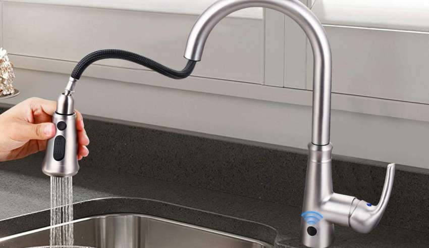 image feature touch kitchen faucets