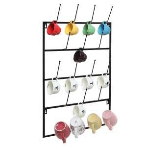 MyGift 5-Tier Wall Mounted Kitchen Mug Hook Display