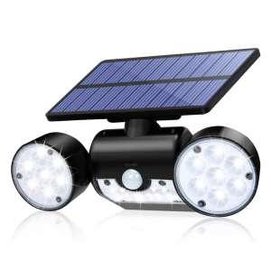 CINOTON Solar Flood Lights Outdoor Motion Sensor 360-Degrees Rotation