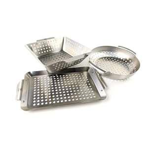 Yukon Glory Professional Mini Grilling Basket, Set of 3