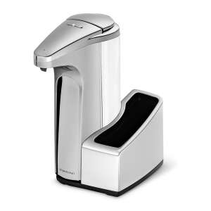 simplehuman Touch-Free 13 fl. oz Automatic Soap Pump, Brushed Nickel