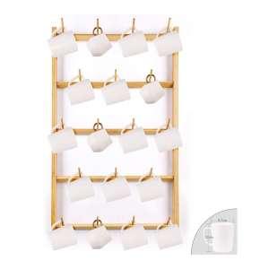 HOMEKOKO Large Bamboo Mug Rack