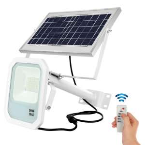 SHARBDA Solar Flood Lights IP67 Waterproof with Remote Control