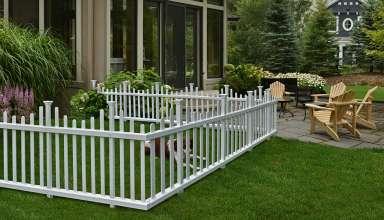 Image feature garden fence panels