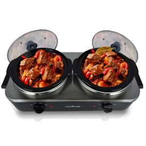 Electric Slow Cooker - Crock Pot Food Warmer, Food Warming Soup Cooker Tray
