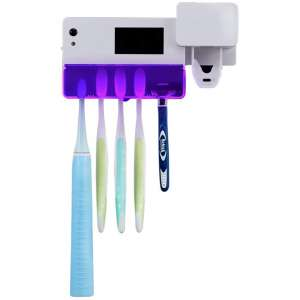 LUMENAIR UV Toothbrush Holder with Toothpaste Dispenser