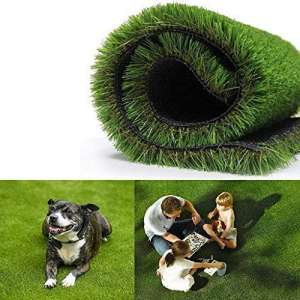 Realistic Thick Artificial Grass Turf 3.3FTX5FT-Indoor Outdoor Garden Lawn Landscape Synthetic Grass Mat