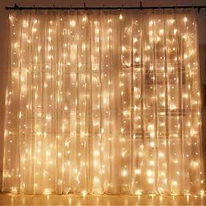 Twinkle Star Window Curtain String Light with 300 LEDs