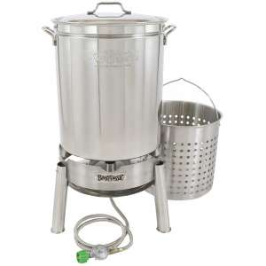 Bayou Classic KDS-160 Stainless 62qt Boiler Steamer