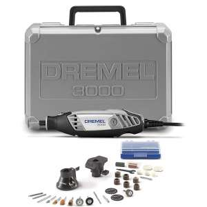 Dremel 3000-228 Variable Speed Rotary Tool Kit- 2 Attachments & 28 Accessories- Grinder, Sander, Polisher, Router, and Engraver