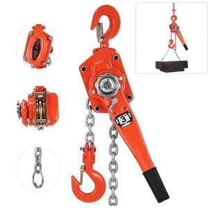 Happybuy 3 Ton Lift Lever Block Chain Hoist 5FT Chain Come Along Portable Ratchet Puller Hoists