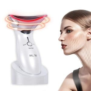 Ms.W Anti Aging Face Massager with Hot & Cold Modes for Wrinkles Appearance Removal and Skin Tightening, High Frequency Facial Machine Rechargeable - Anti Wrinkle Facial Toning Massage Device