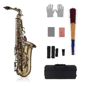 Muslady Eb Alto Saxophone with Padded Carrying Case