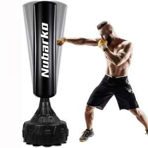 NUBARKO Freestanding Punching Bag 67''- 182lb Heavy Boxing Bag with Suction Cup Base