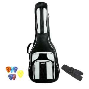 RockJam 41 Inches Waterproof 3 Pocket Padded Guitar Bag