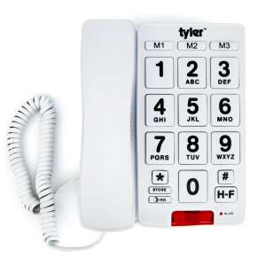 Tyler Big Button Corded Desk Phone with Speakerphone