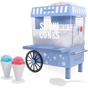 Nostalgia SCM525BL Vintage Countertop Snow Cone Maker Makes 20 Icy Treats
