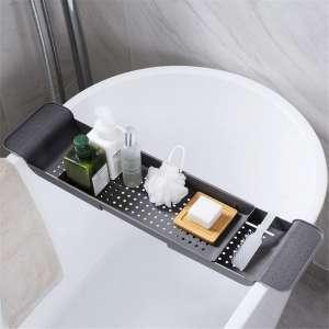 OldPAPA Bathtub Caddy Tray, Adjustable Bathroom Bathtub Caddy Organizer