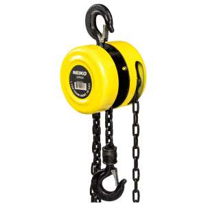 Neiko 02182A Chain Hoist with 2 Hooks, 1 Ton Capacity Manual Hand Chain Block