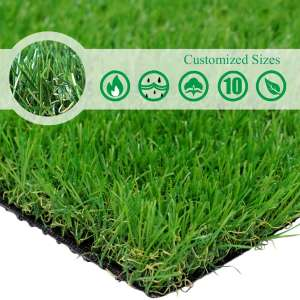 Customized Sizes Realistic Artificial Grass Turf 3FTX10FT(30 Square FT)