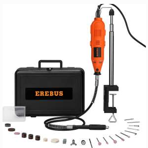 EREBUS Variable Speed Rotary Tool Kit w 3 Attachments, 40 Accessories (S1J-XT3-10)