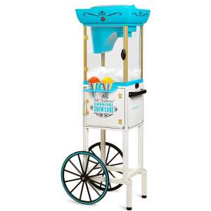 Nostalgia Inch Tall Snow Cone Cart, Metal Scoop Makes 48 Icy Treats