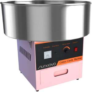 Nurxiovo 21 Inch Cotton Candy Machine, Electric Commercial Cotton Candy Floss Maker