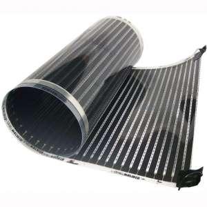 QuietWarmth QWARM1.5X10F240 Electric Floor Heating System, 1.5' x 10', Black