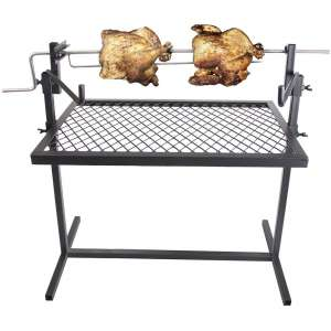 Stansport Heavy-Duty Rotiserrie Grill, 16 x 24-Inch