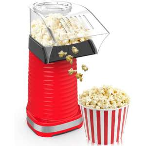 ast Hot Air Popcorn Popper With Top Cover,Electric Popcorn Maker Machine
