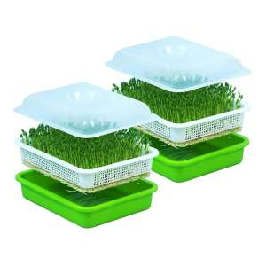 Anjoy Seed Sprouter Tray with Kid 2 Pack